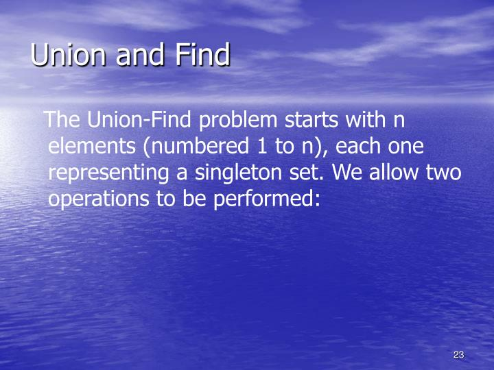 Union and Find