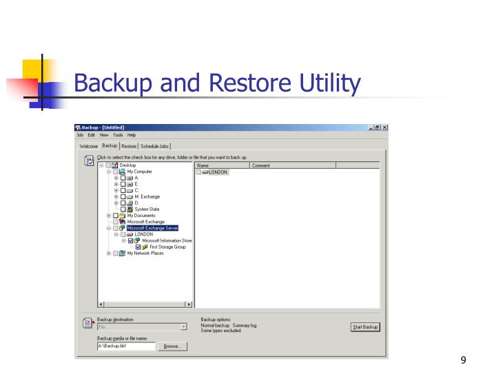 Backup and Restore Utility