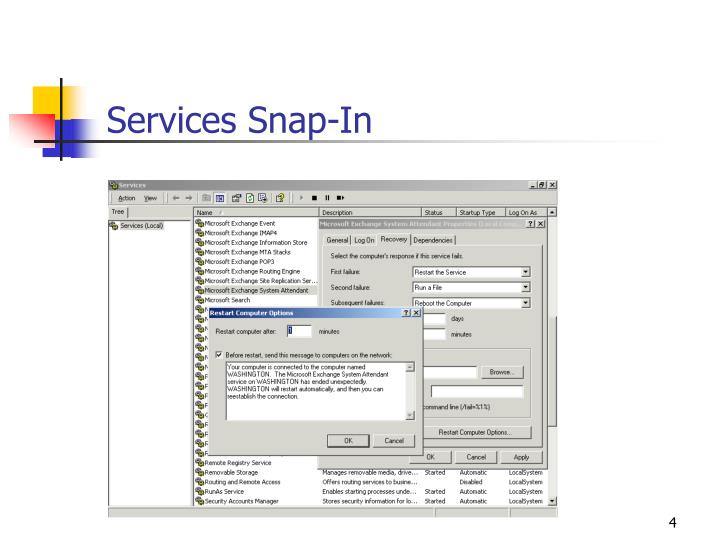 Services Snap-In