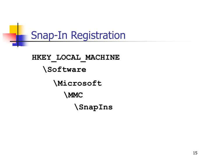 Snap-In Registration