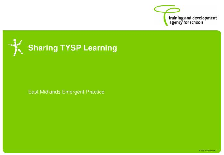 sharing tysp learning