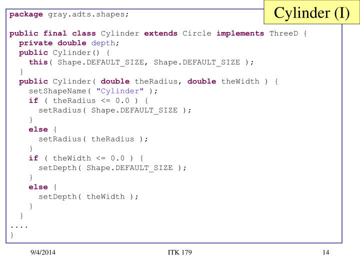 Cylinder (I)