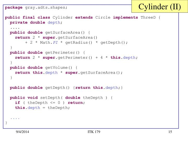 Cylinder (II)