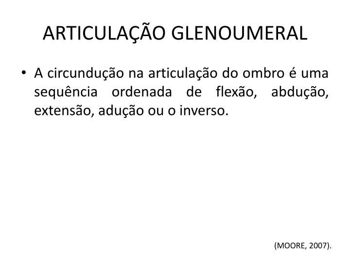 ARTICULAÇÃO GLENOUMERAL