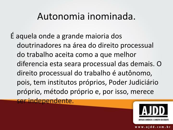 Autonomia inominada.