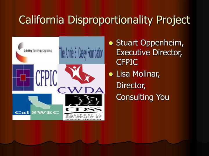 California disproportionality project
