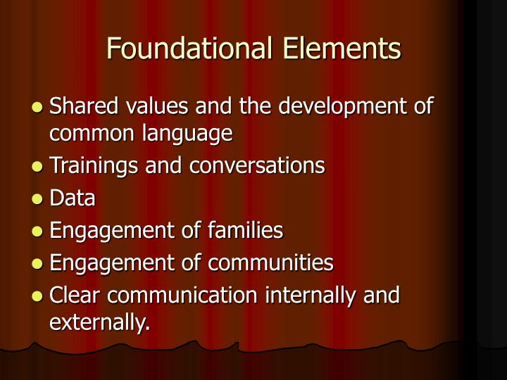 Foundational Elements