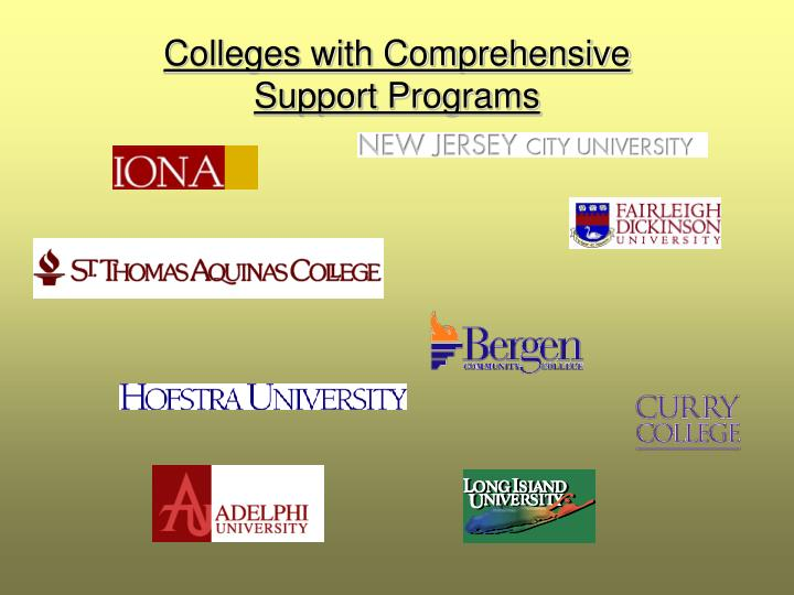 Colleges with Comprehensive