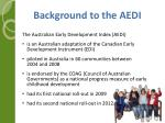 background to the aedi