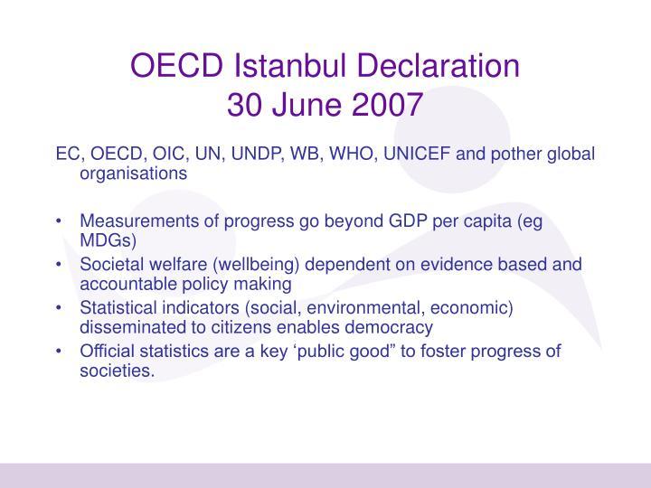 OECD Istanbul Declaration