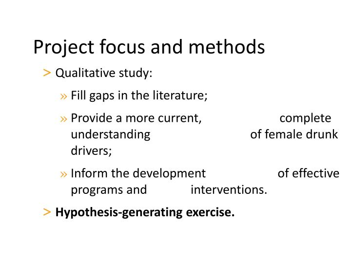 Qualitative study: