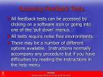 accessing feedback tests1