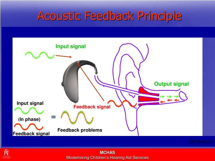 Acoustic Feedback Principle