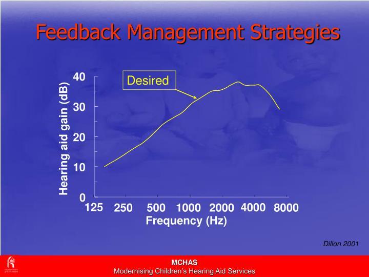 Feedback Management Strategies