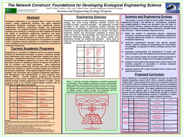 The Network Construct: Foundations for Developing Ecological Engineering Science