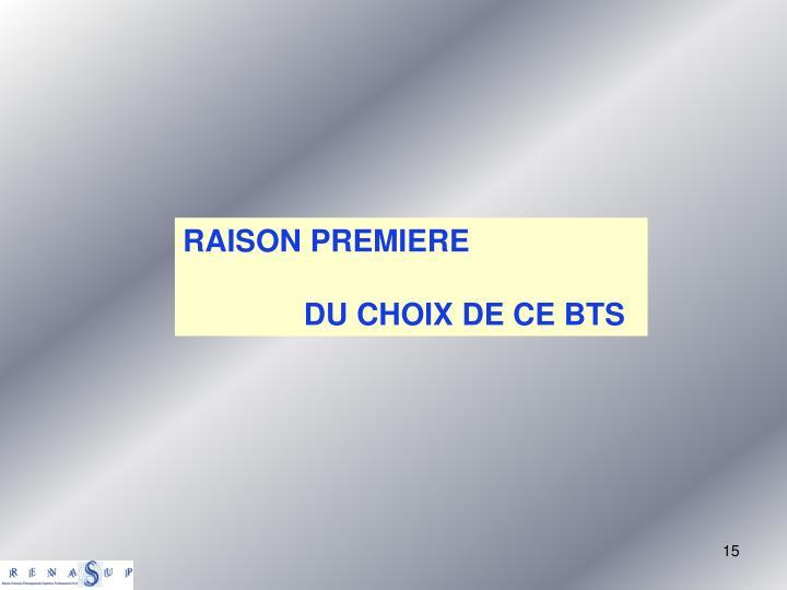 RAISON PREMIERE