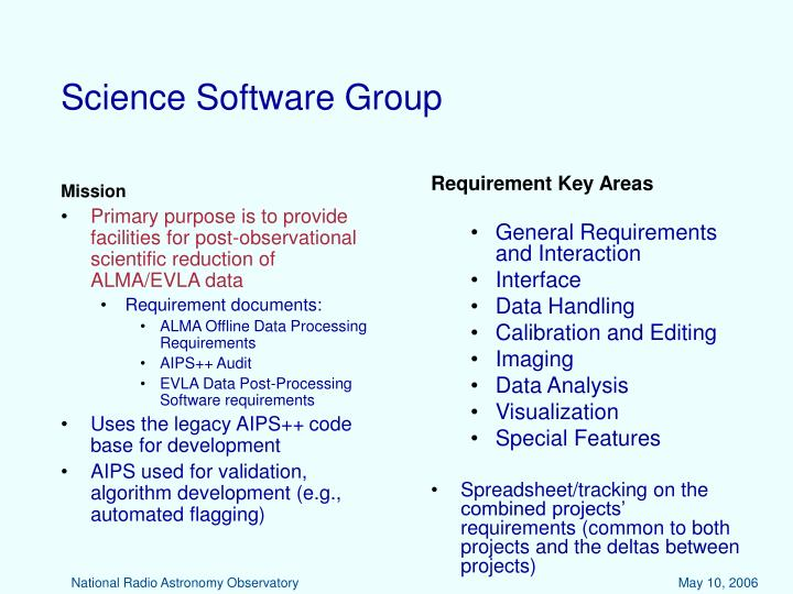 Science software group