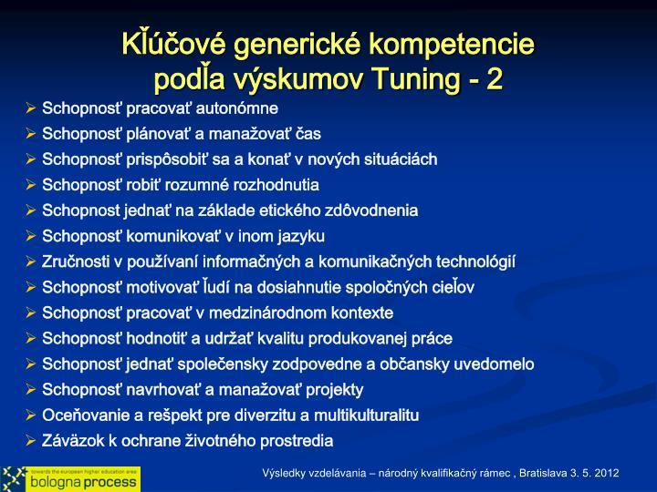 Kľúčové generické kompetencie