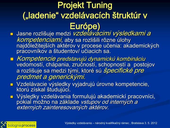 Projekt Tuning
