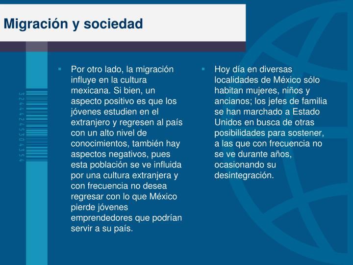 Migración y sociedad