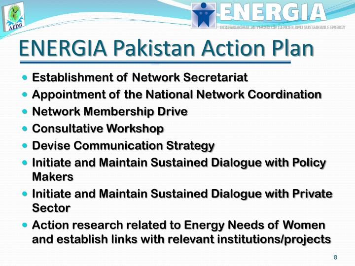 ENERGIA Pakistan Action Plan