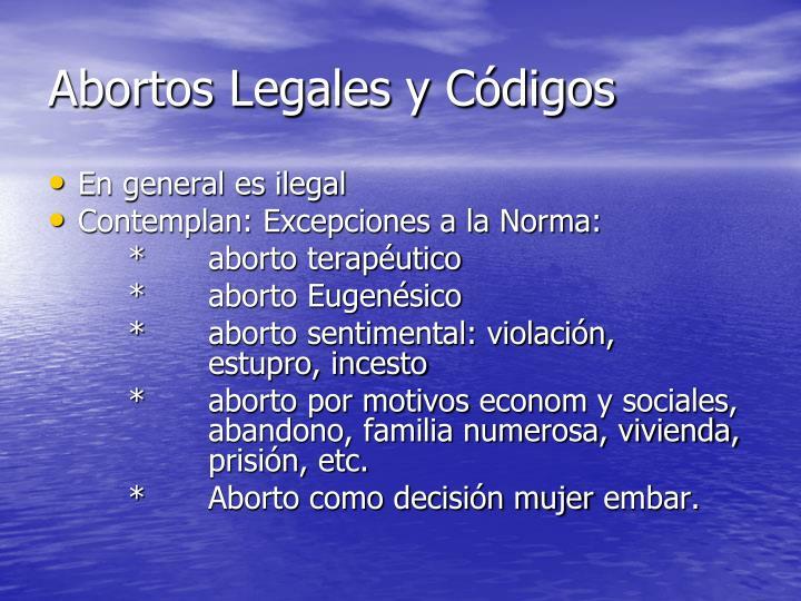 Abortos Legales y Códigos