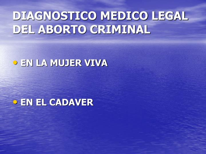 DIAGNOSTICO MEDICO LEGAL