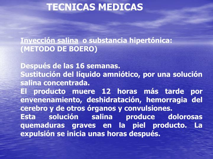 TECNICAS MEDICAS