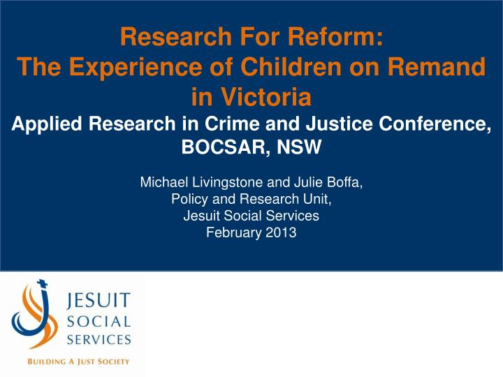 Research For Reform: