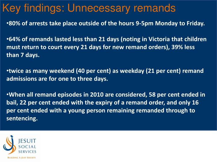 Key findings: Unnecessary remands