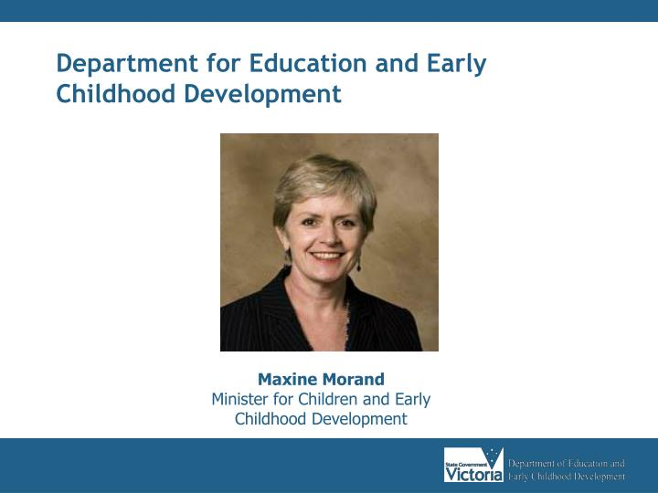 Department for Education and Early Childhood Development