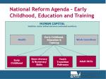 national reform agenda early childhood education and training