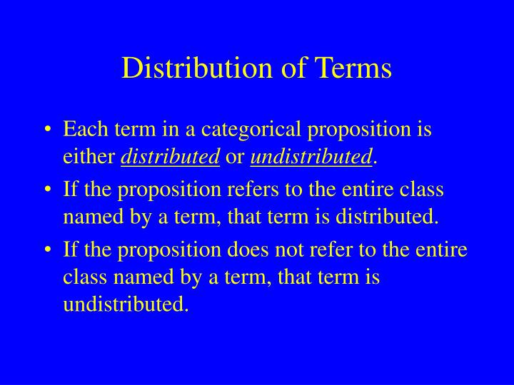 Distribution of Terms