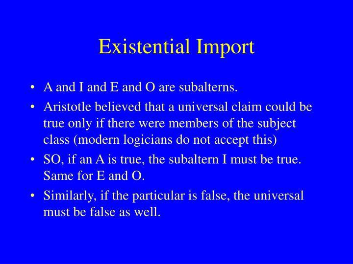 Existential Import