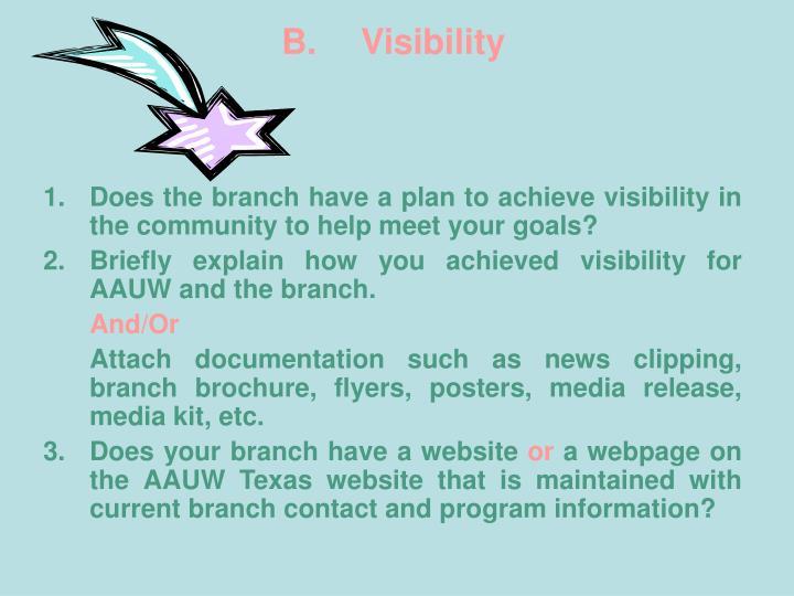 B. Visibility