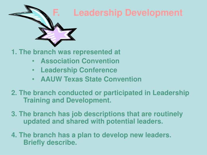 F.Leadership Development