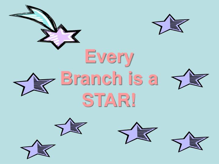 Every Branch is a STAR!