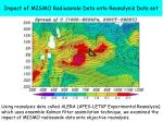 impact of mismo radiosonde data onto reanalysis data set