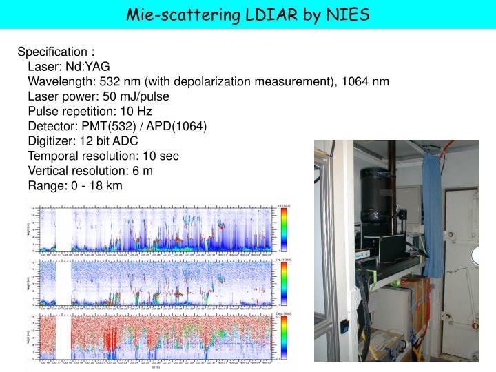 Mie-scattering LDIAR by NIES
