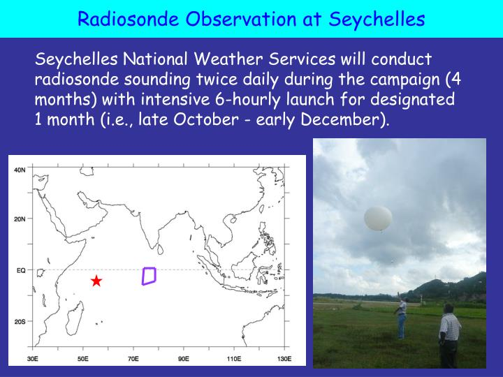 Radiosonde Observation at Seychelles