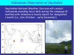 radiosonde observation at seychelles