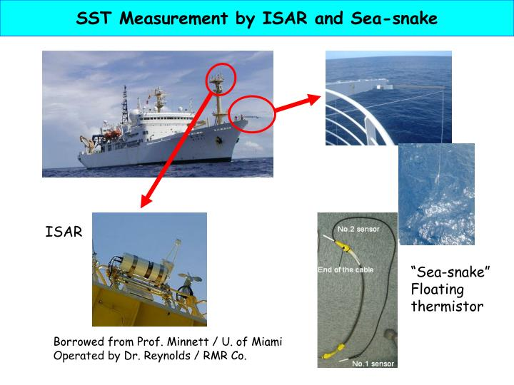 SST Measurement by ISAR and Sea-snake