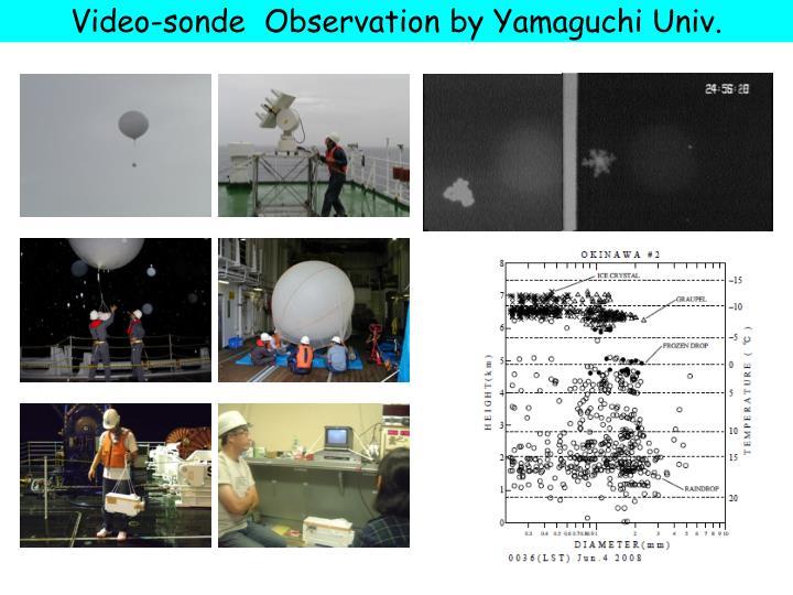 Video-sonde  Observation by Yamaguchi Univ.