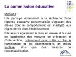 la commission ducative