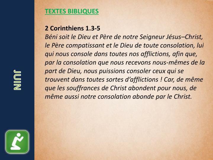 TEXTES BIBLIQUES