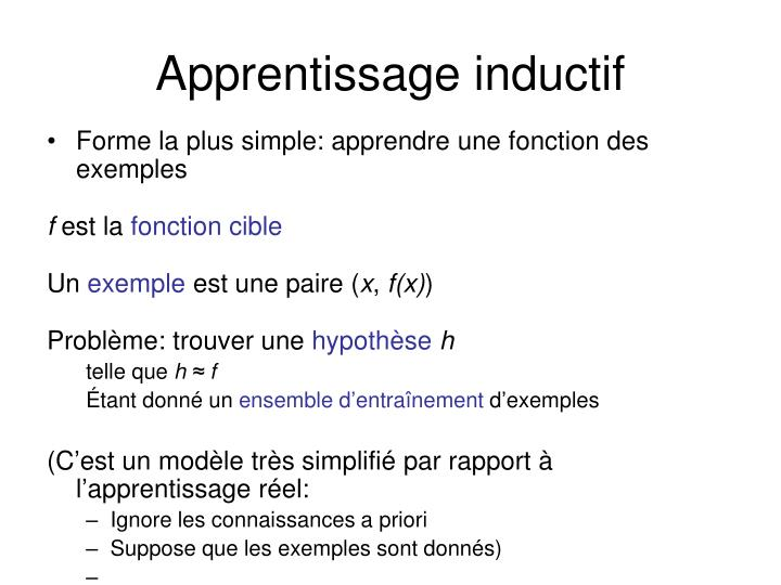 Apprentissage inductif