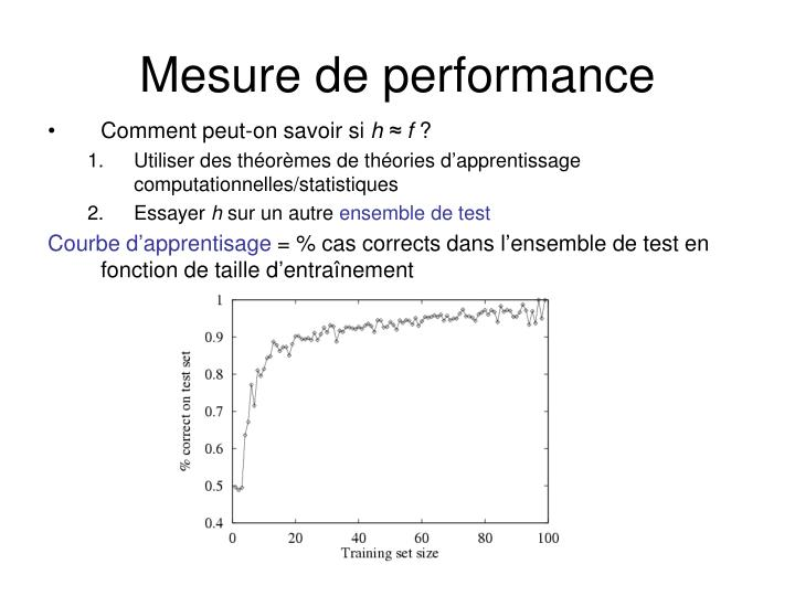 Mesure de performance