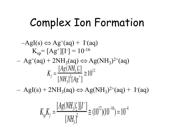 Complex Ion Formation