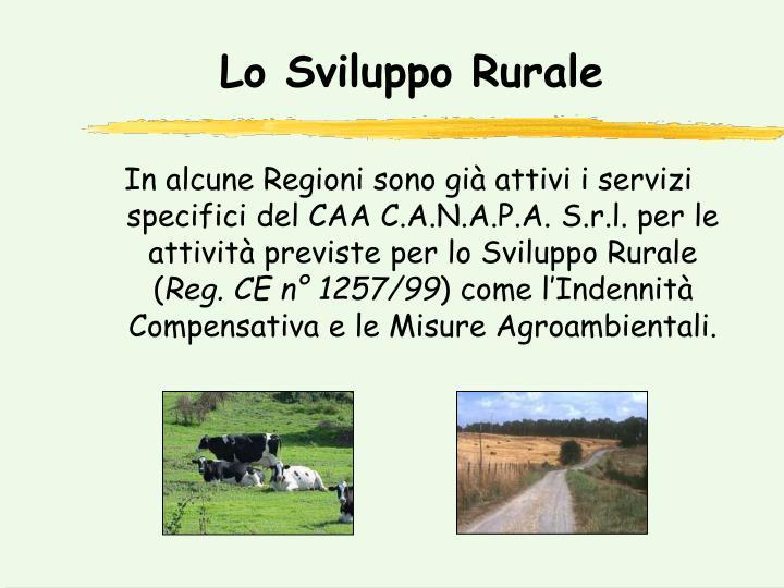 Lo Sviluppo Rurale