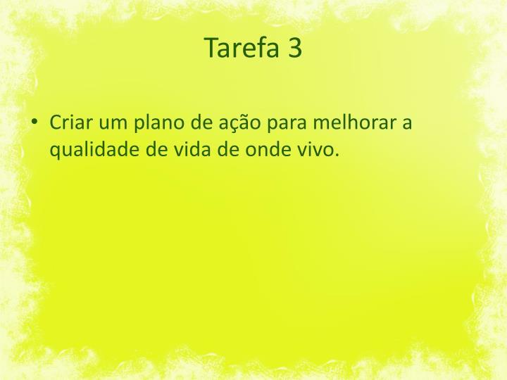 Tarefa 3